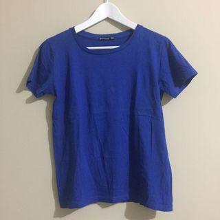 STRADIVARIUS Blue T-Shirt
