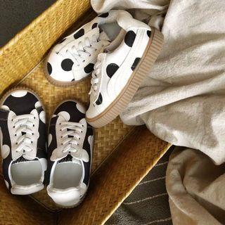 🚚 2019新款兒童板鞋波點復古風男女童帆布鞋