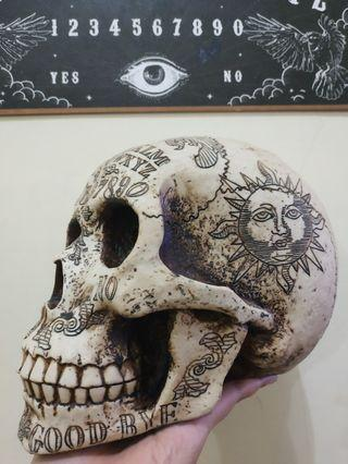 Spirits Skull Skeleton Ornament Spirit Ouija Design by Nemesis