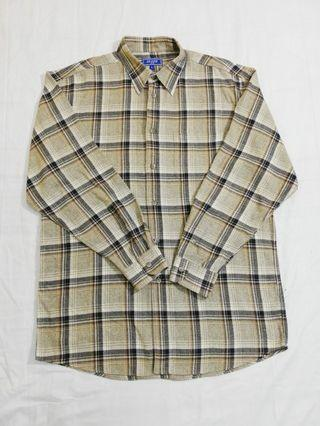 Ngu古著  格紋長袖襯衫