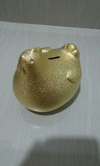 Golden Hen Coin Bank