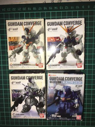 已開盒 未砌 未拆膠袋 FW Gundam Converge 65 71 72 4 盒 F91 海盜高達