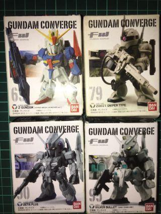 已開盒 未砌 未拆膠袋 FW Gundam Converge 63 79 90 95 Z Gundam Z Plus 銀彈 舊渣古
