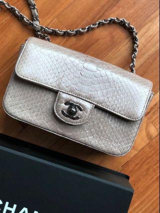 Chanel Classic Small Flap Snake (Python) Skin