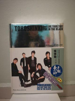 TOHOSHINKI 2ND LIVE TOUR FIVE IN THE BLACK PHOTOBOOK + CD + LIGHTSTICK
