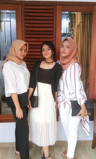 Black & white dress (jual pasrah, tawar aja berapa)