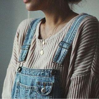 Brandy Melville pink knit sweater 淡粉色針織長袖上衣