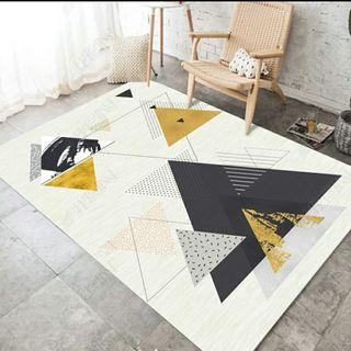 Abstract Triangle Pattern Carpet