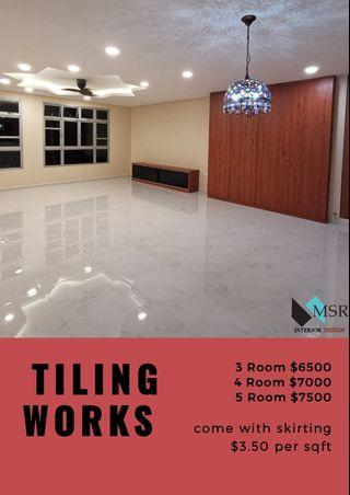 Tiling work for BTO