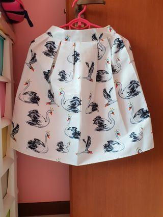 Swarn pattern satin structured skirt