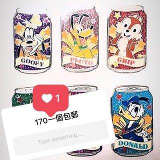 (包郵!!)Disney 2009 vintage soda can pin 迪士尼汽水罐襟章