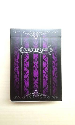 Authentic Ellusionist Purple Artifice Borderless Edition Playing Card Deck, Cardistry Deck, Made In USA, UNSEALED