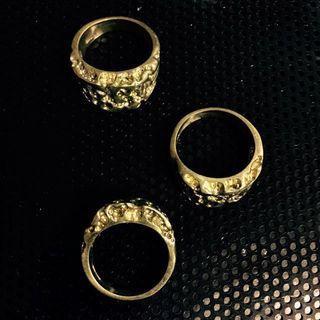 🚚 👹圖騰粗曠型手工戒指🐲食指戒拇指戒