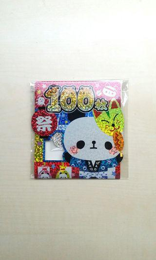 [DISCOUNT] Authentic Rare Japanese Brand Kawaii Japanese Traditional Fair Theme Sticker Flake Set, 61 Pieces, Japan Import,  Matte And Holographic Stickers