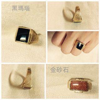 🚚 🎯天然寶石💍✅中性復古風戒指✅食指戒✅寶石療癒✅男戒女戒對戒