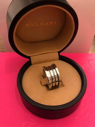 BVLGARI white gold zero ring 戒指 (3行)真貨90%新