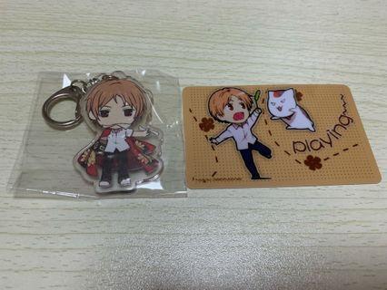 Natsume Yuujinchou Keychain + Free Ezlink card sticker