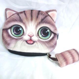 [⏰TIME SALE!] Big Grumpy Cat Coin Tail Zip Pouch
