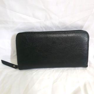 [⏰TIME SALE] Men Plain Quality EtonWeag Long Zip Wallet