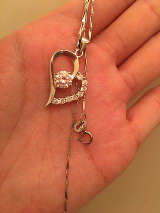 925钻石银项链