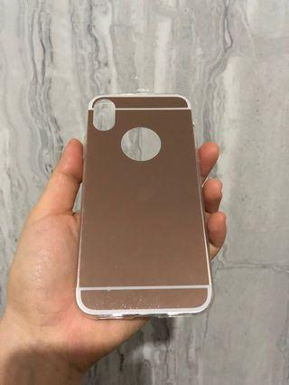 Luxury Mirror Case for Iphone X (Bonus Anticrack Case)