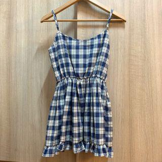 🚚 BN Babydoll Ruffle Checkered Dress