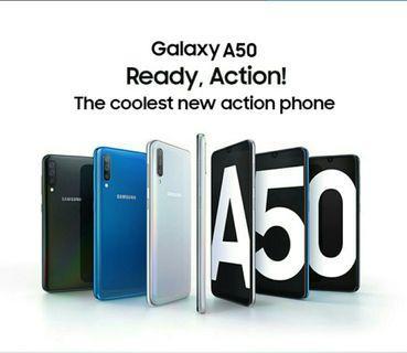 全新 高登捌伍Samsung三星A50 6.4寸全面屏 屏幕指紋開鎖 八核 6+128GB 25M廣三鏡 三咭三槽 Type-C快充 android9 google play 繁中 一年保養 門市交收