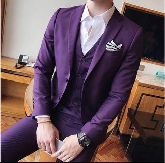 Three-Piece Purple Suit