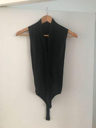 Marciano black short sleeve bodysuit, size XS