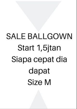 Ball gown , sale , promotion, flyer , baju prewessing sale