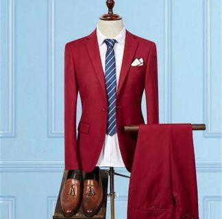 Red Two-Piece Suit
