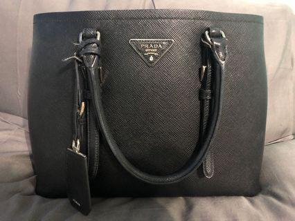67e11cc8fcda Preowned Authentic Prada Saffiano Cuir Double Bag