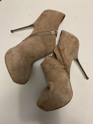 Zara Booties Size 7 Suede Stiletto