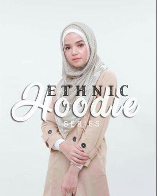 Ethnic Hoodie Instant Shawl Hijab Tudung Muslimah