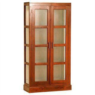 FIRE SALE Teak Glass Display Pari Cabinet 50%OFF TeakCo.com