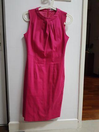 Pink Dress Midi Work