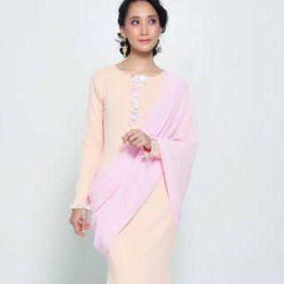 Saree Dress (in Pink)