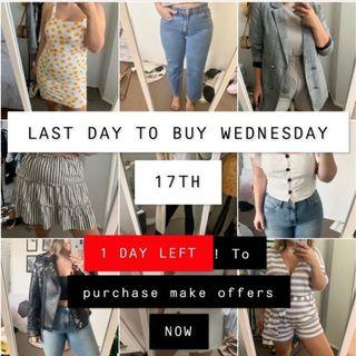 LAST DAY TO BUY!!