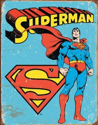 Superman DC Comics Superheroes vintage Retro Style Metal Tin Signage Painting