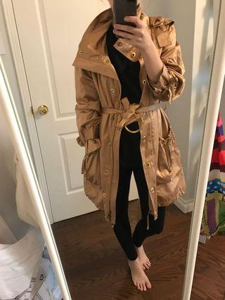 Gold Jacket/Trench Coat - small