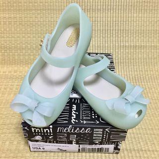 🚚 SALE ‼️‼️ S$55 (42% off) BN Mini Melissa Ultragirl Bow II Green Shoes US9 (2016)
