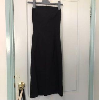 CUE zip up strapless dress
