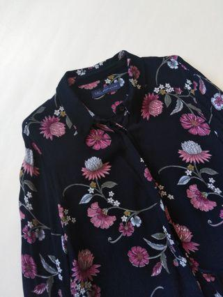 MARKS & SPENCER Buttondown Floral Top