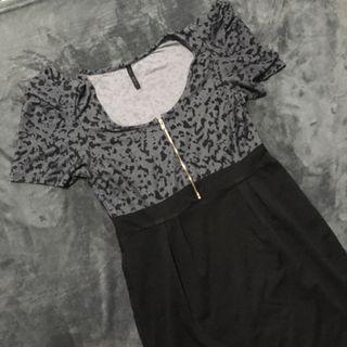Gray Cheetah Print Dress
