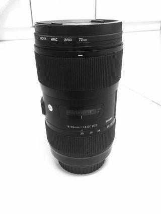 Sigma 18-35mm f1.8 art lens canon mount