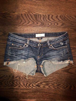 Denim shorts size 1 (small)