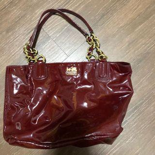 Coach Handbag authentic used preloved second hand good condition shoulder bag leather series