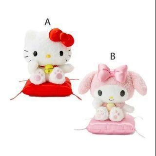 🚚 娃娃 三麗鷗 Hello Kitty 美樂蒂 坐墊 絨毛娃娃 玩偶 日本正版授權