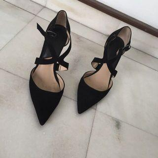 Mango Black Pointed High Heels