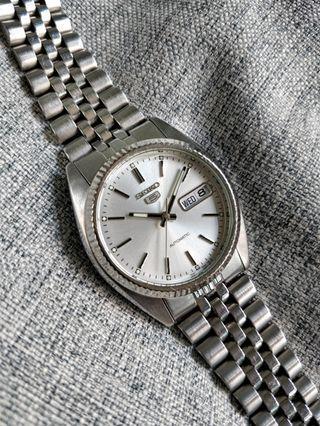 Discontinued Seiko SNXJ89 7S26-0500 Rolex Datejust Homage